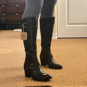 Brand new black Born Shoes buckle Boots size 7